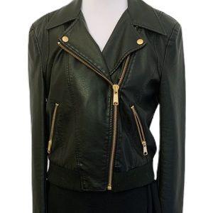 NWOT Free People Vegan Leather Jacket